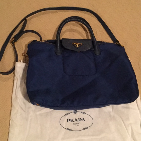 d7fe4cc8372 Authentic Prada Nylon Blue Bag. M_5a7f88f500450ff911683de7